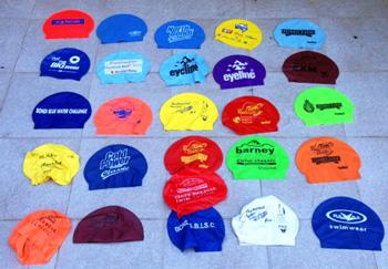 old swim caps
